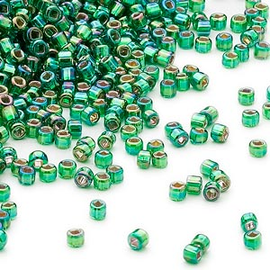 11D-4565 Silver Lined Emerald Green Rainbow