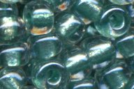 6-1528 Sparkle Aqua Green Lined Crystal