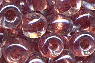 6-2601 Sparkle Antique Rose Lined Crystal