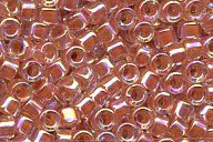 DB-54 D/Peach Lined Crystal AB